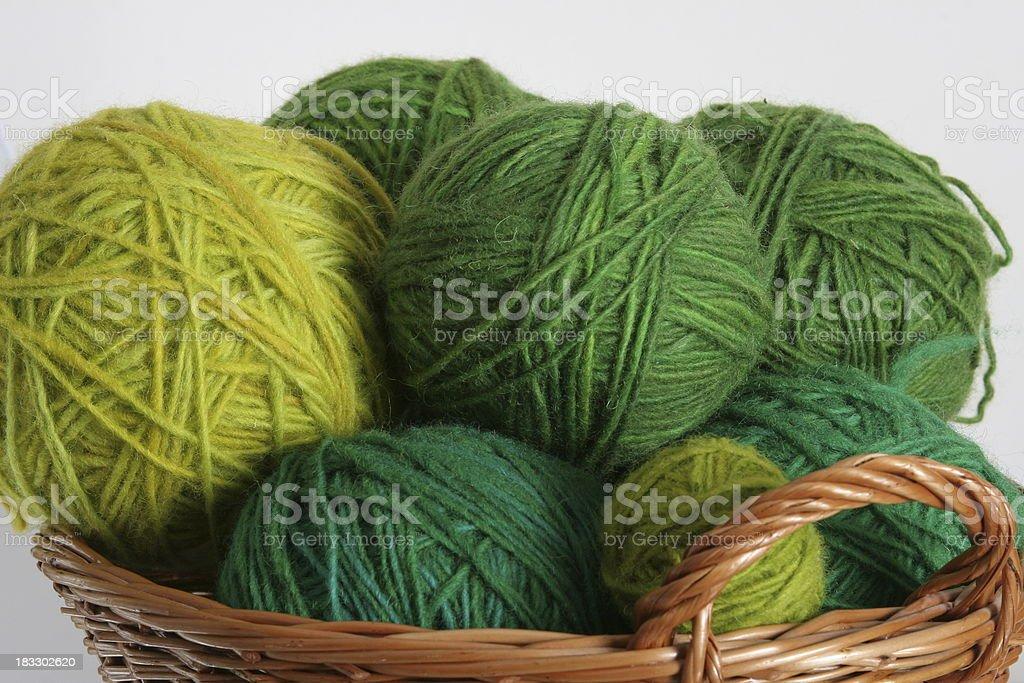 green woolen yarn royalty-free stock photo