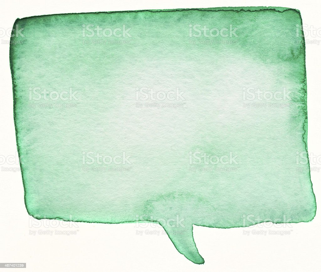 Green word bubble royalty-free stock photo
