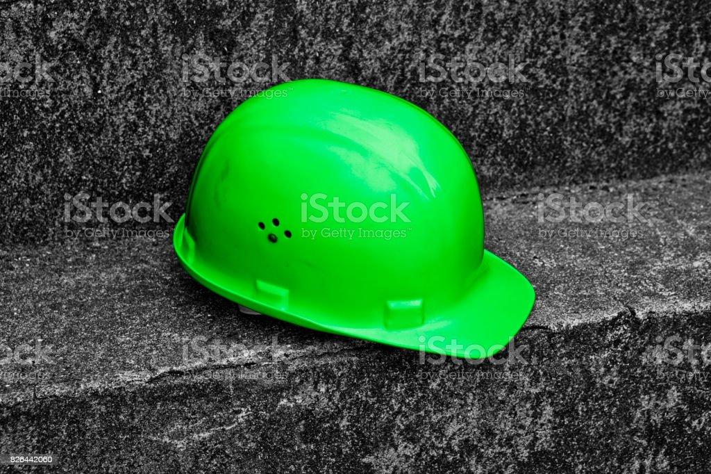 Green Work Helmet