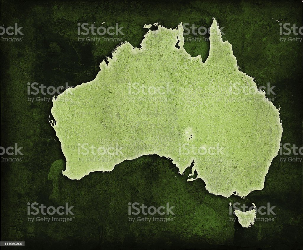 Green World Australia map royalty-free stock photo