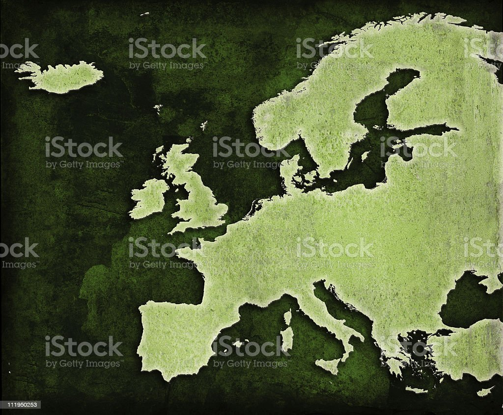 Green World Europe map royalty-free stock photo