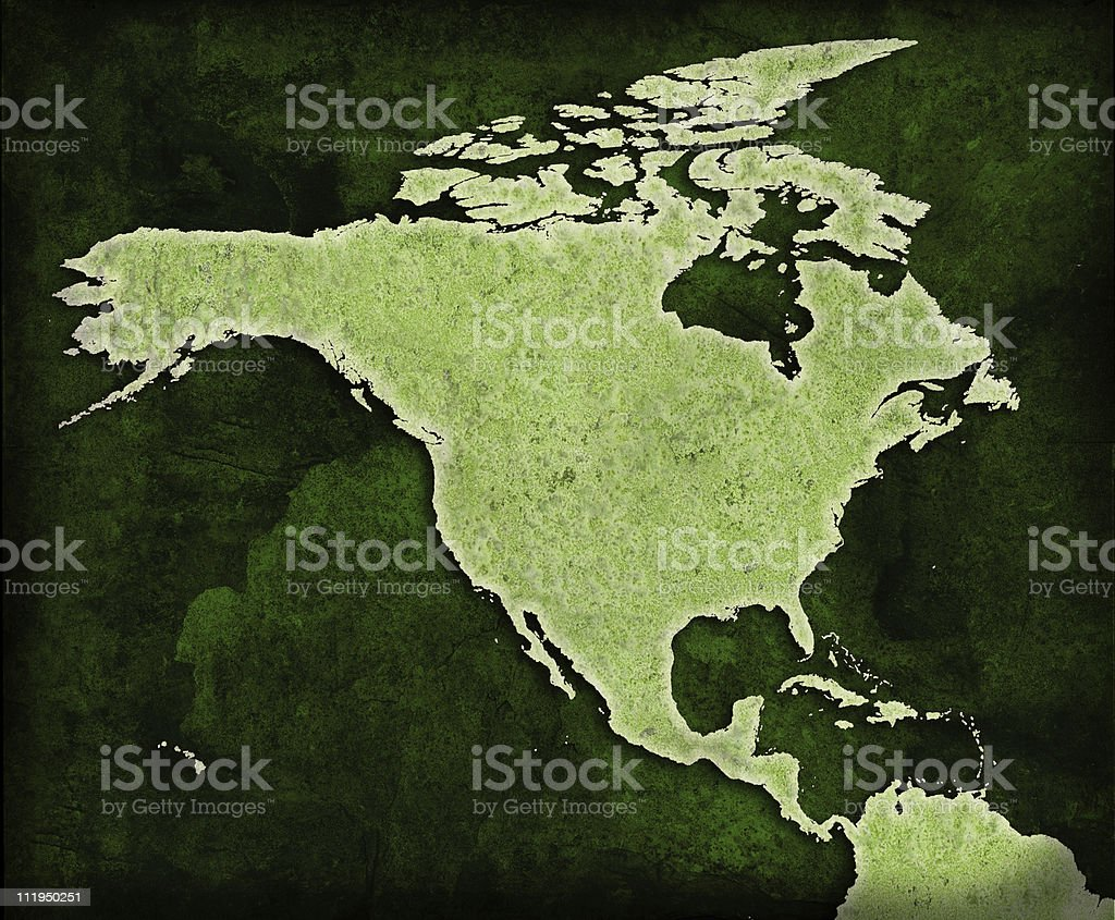 Green World USA map royalty-free stock photo