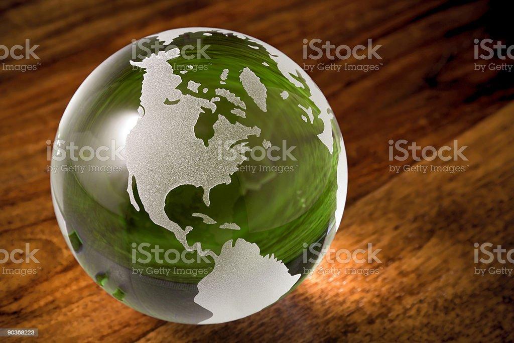 Зеленый мир с copyspace Стоковые фото Стоковая фотография