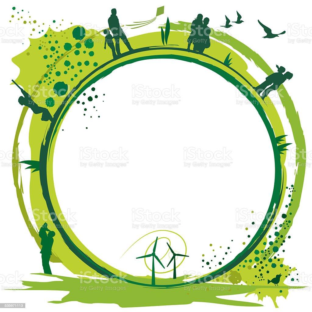 green world.eps stock photo