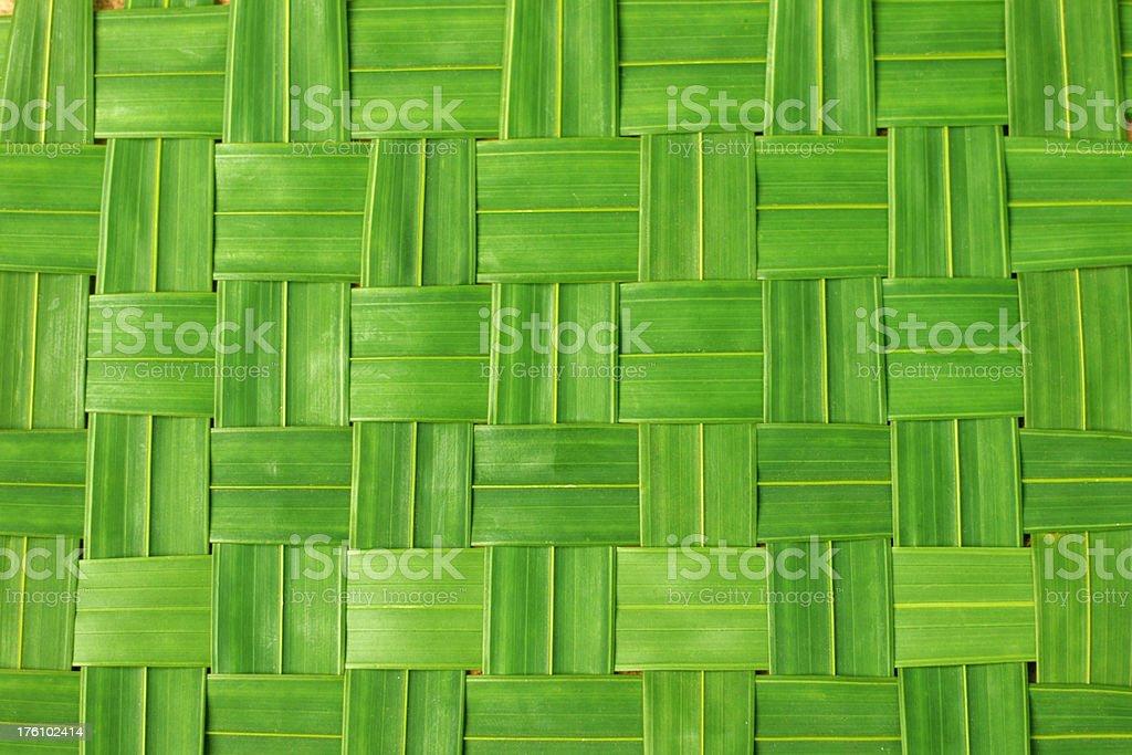 Green woven mat royalty-free stock photo