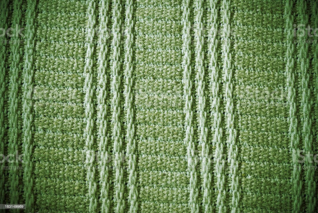 Green woven striped material background or texture royalty-free stock photo
