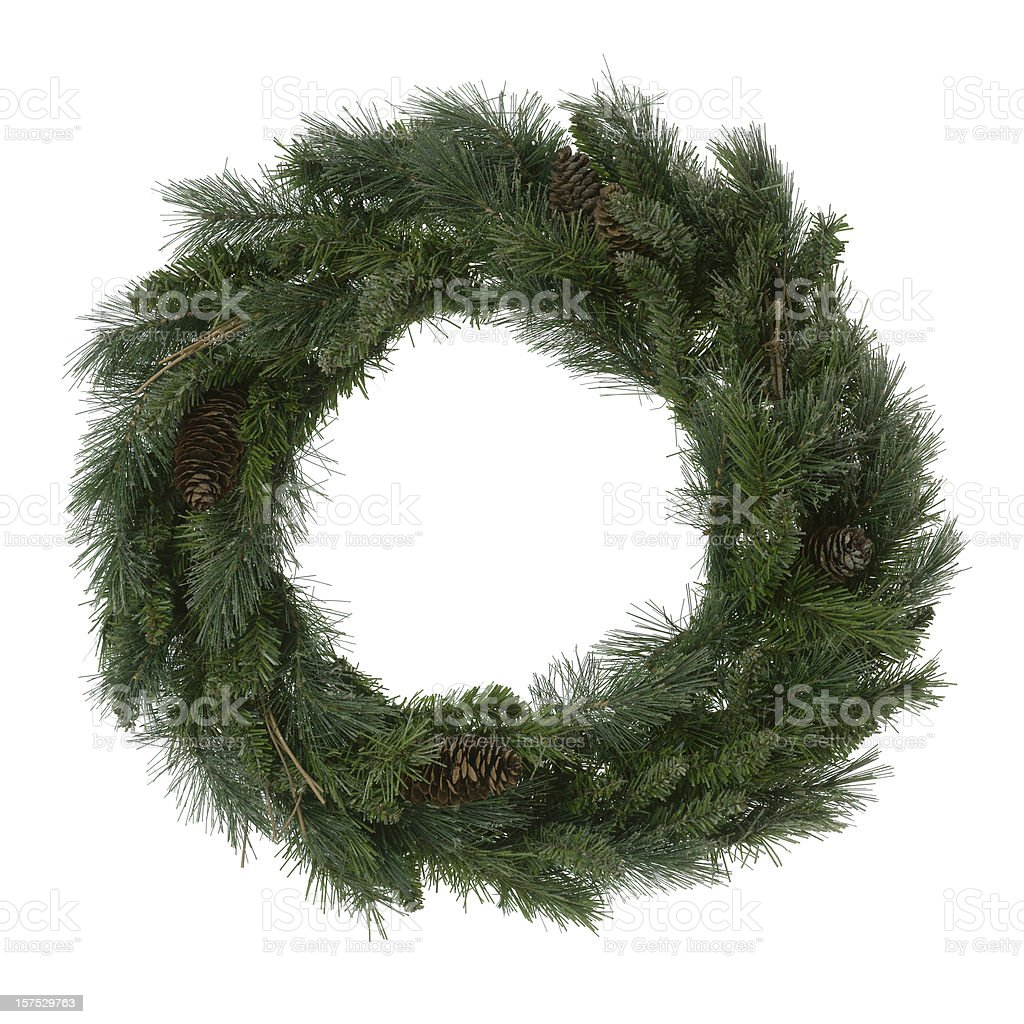 Green Wreath royalty-free stock photo