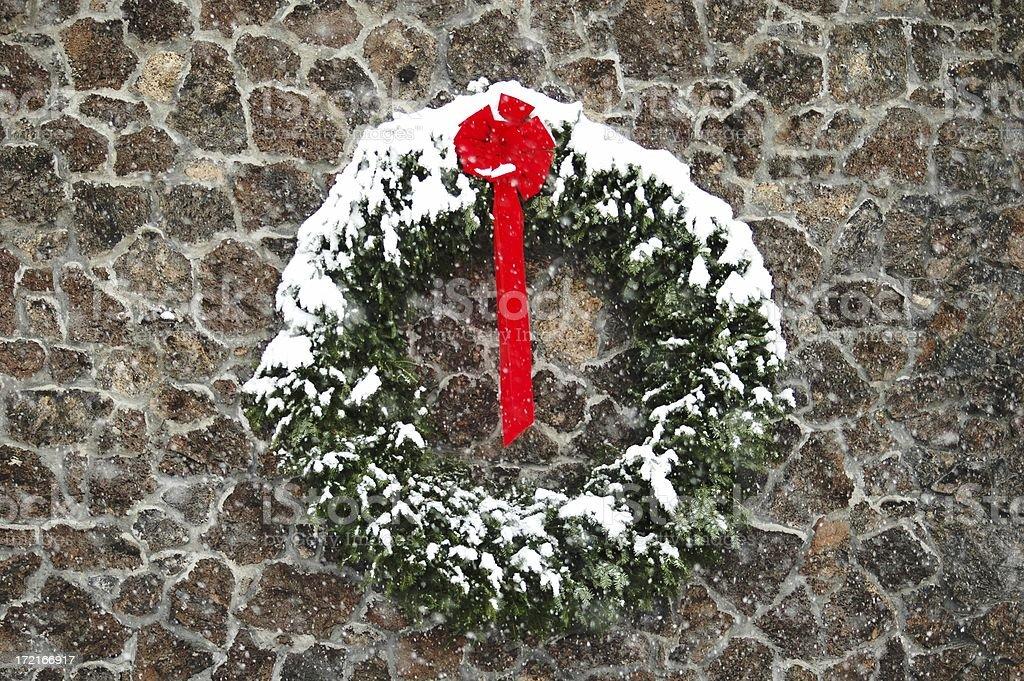 green wreath royalty-free stock photo