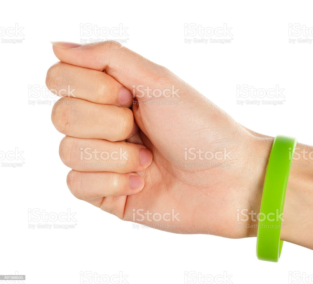 Green Wristband stock photo