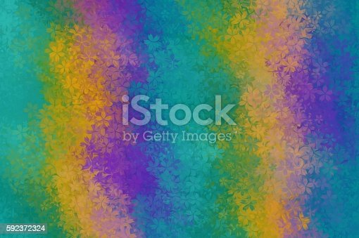 green yellow and purple flowers abstract background stock photo, Beautiful flower