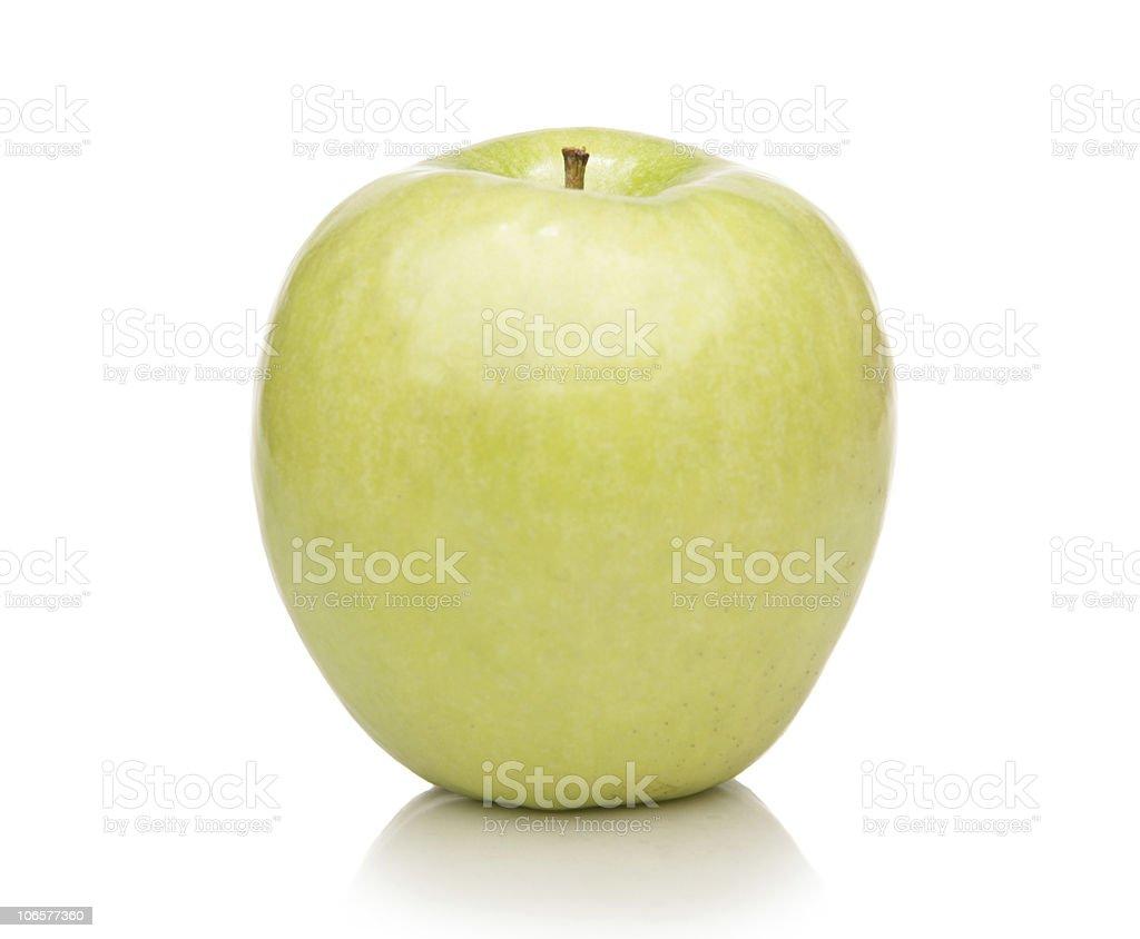 Green Yellow  Mutsu Apple stock photo