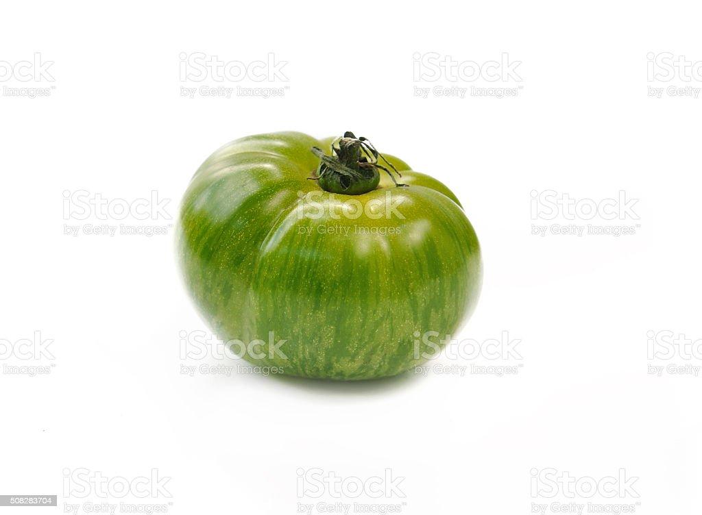 green zebra tomato stock photo