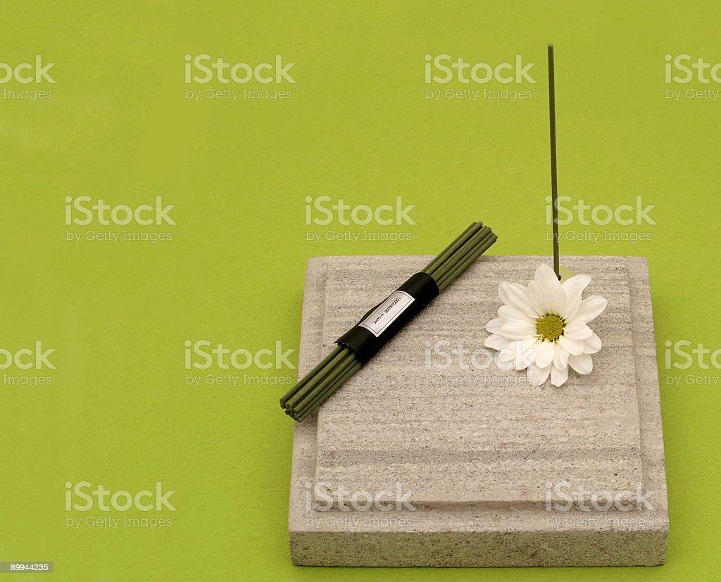 Green Zen stock photo