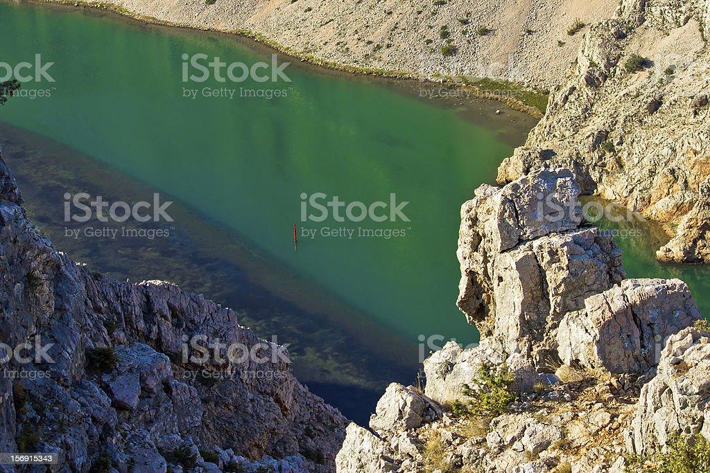 Green Zrmanja river in canyon stock photo