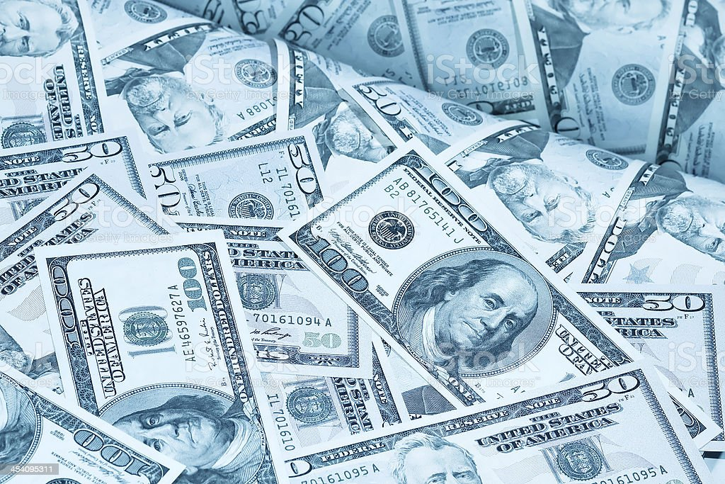 greenbacks background stock photo