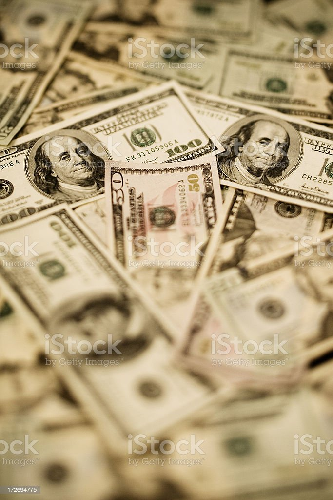 Greenbacks stock photo