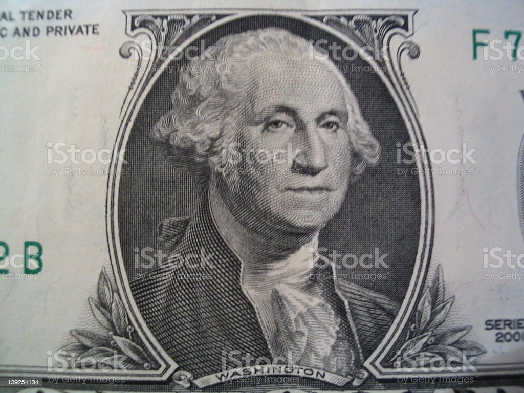 Greenbacks - Washington stock photo