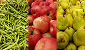 Greenbeans, apples, pears