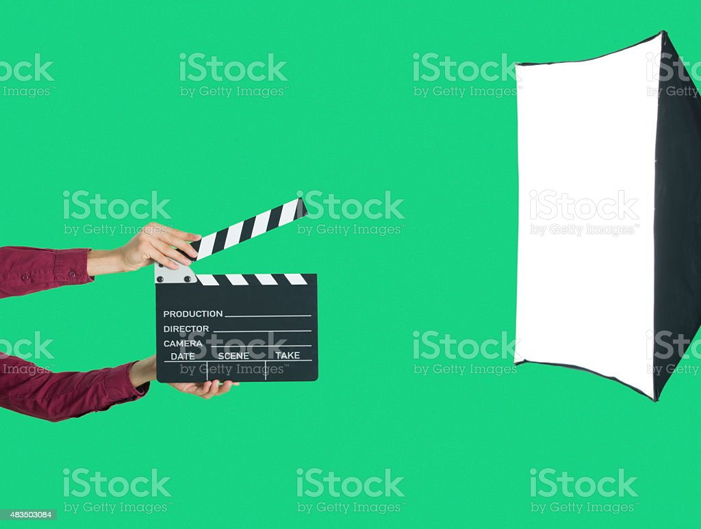 Greenbox film studio stock photo