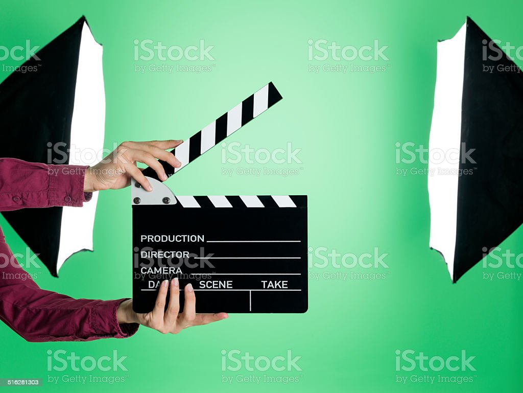 Greenbox film studio stock photo