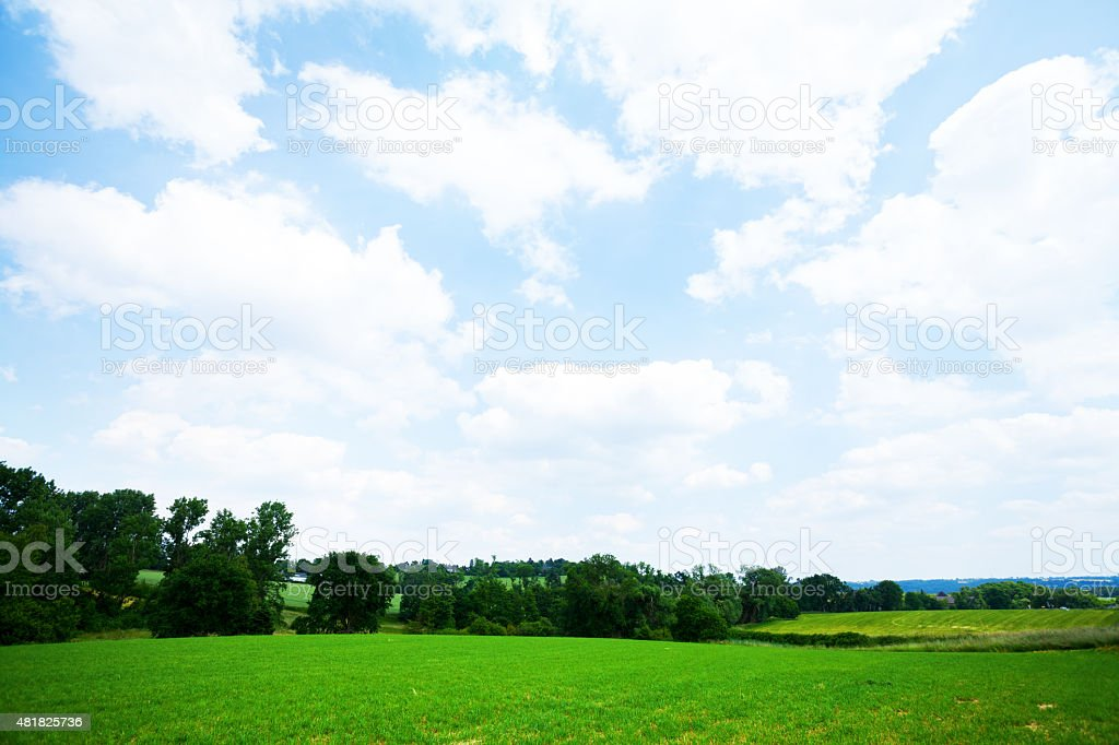 Greenery of Essen and valley Ruhr stock photo