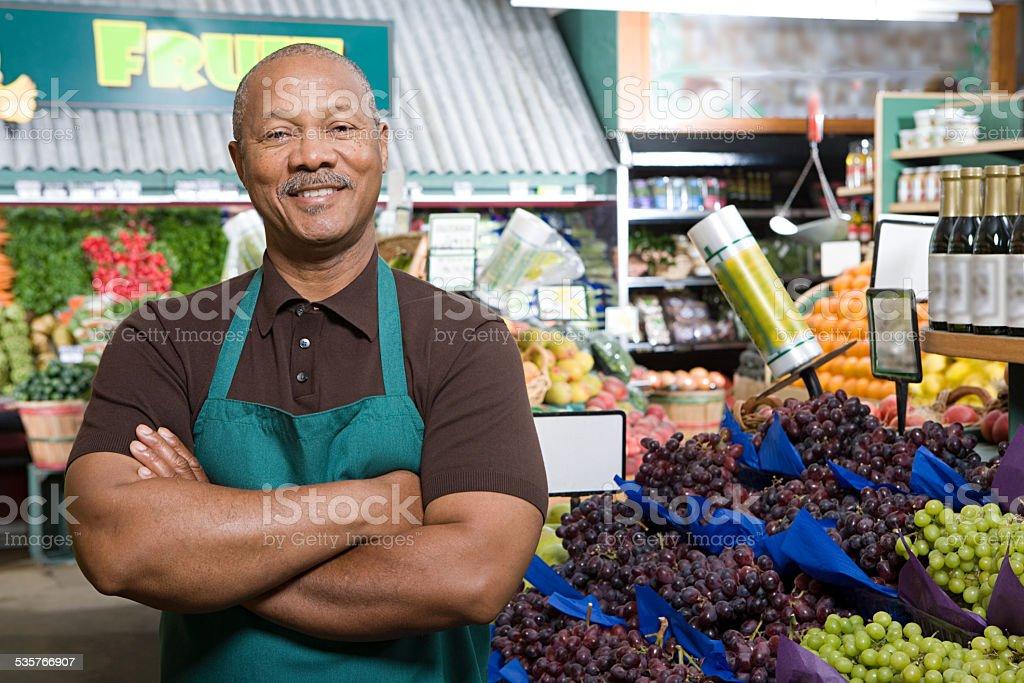 Greengrocer stock photo