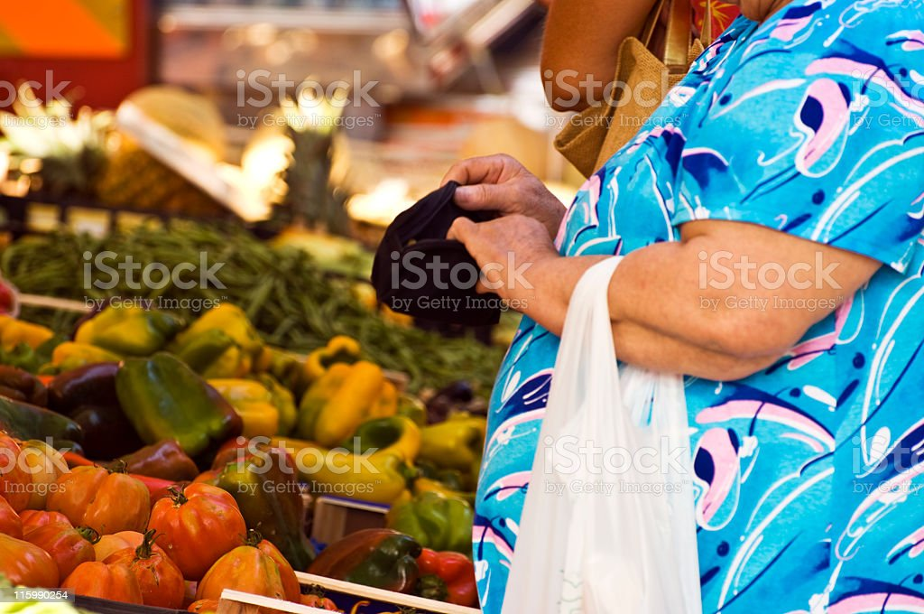 Greengrocer's Shop. Color Image stock photo