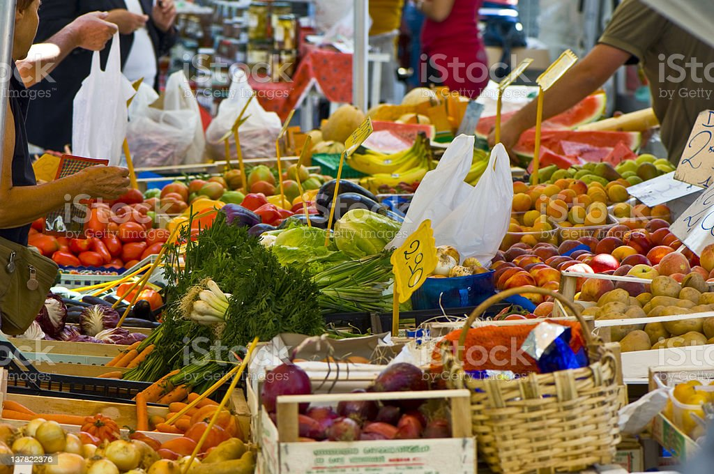 Greengrocer's Shop. Color Image royalty-free stock photo