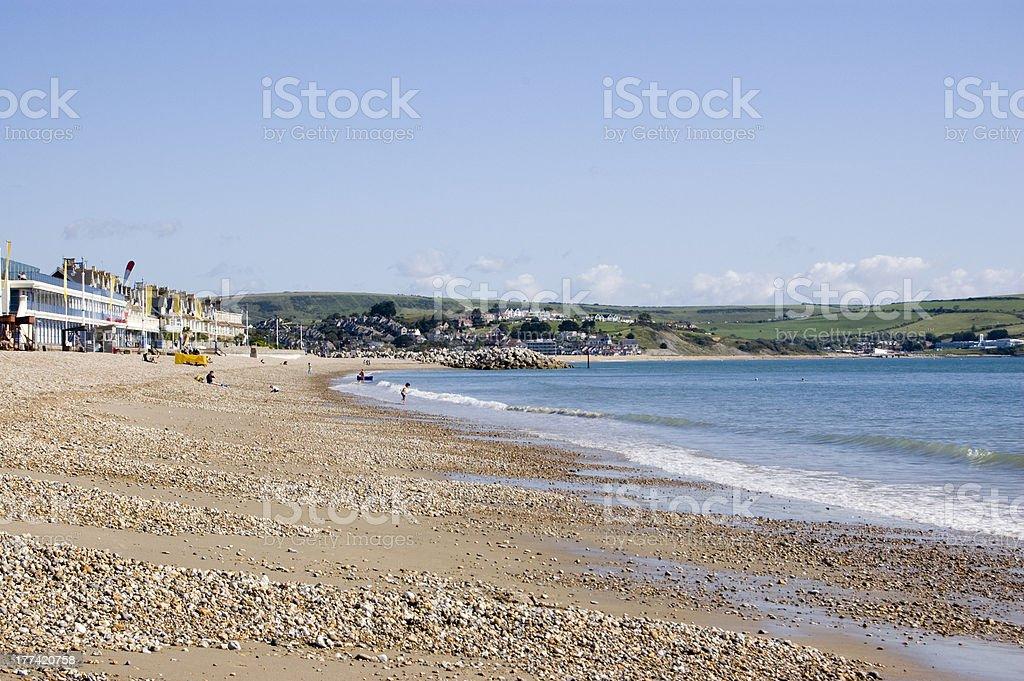 Greenhill Beach, Weymouth stock photo