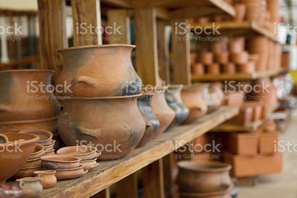 Greenhouse Flowers & Pots royalty-free stock photo