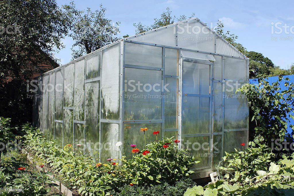 greenhouse for one family royalty-free stock photo