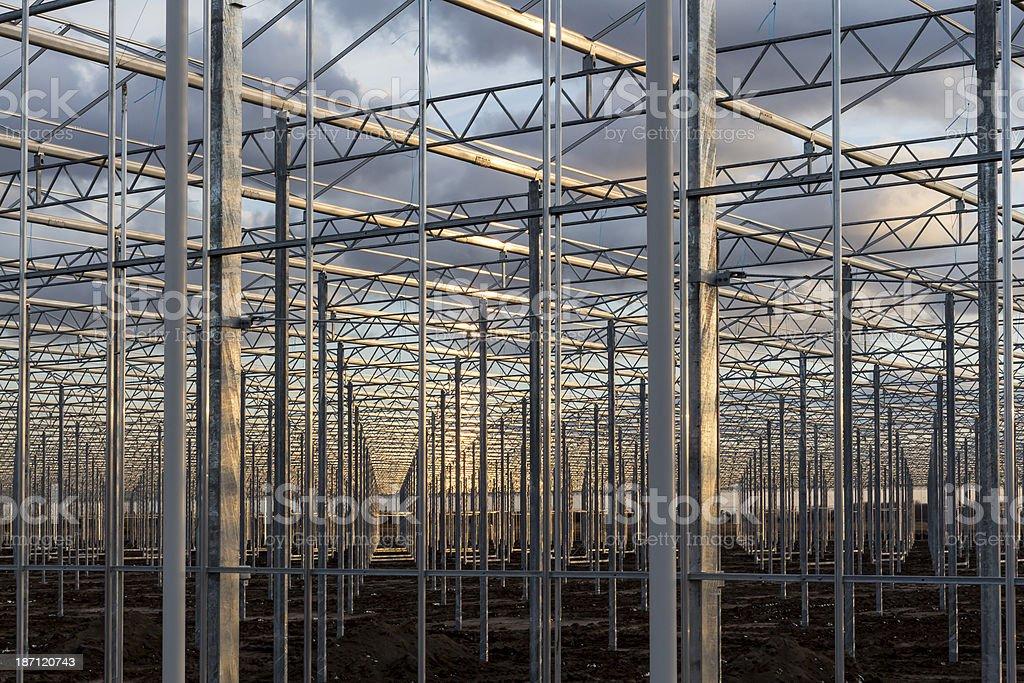 Estufa enquadramento de construção foto royalty-free