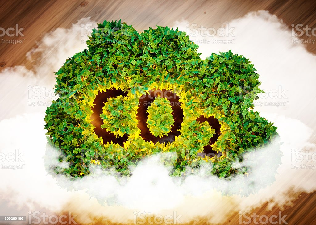 Greenhouse gas concept. stock photo