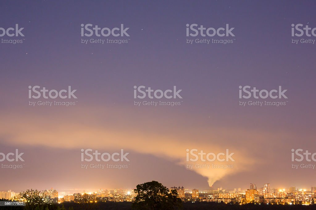 Greenhouse gas emission stock photo
