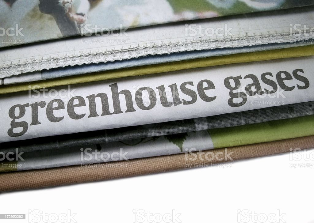 Greenhouse Gases stock photo