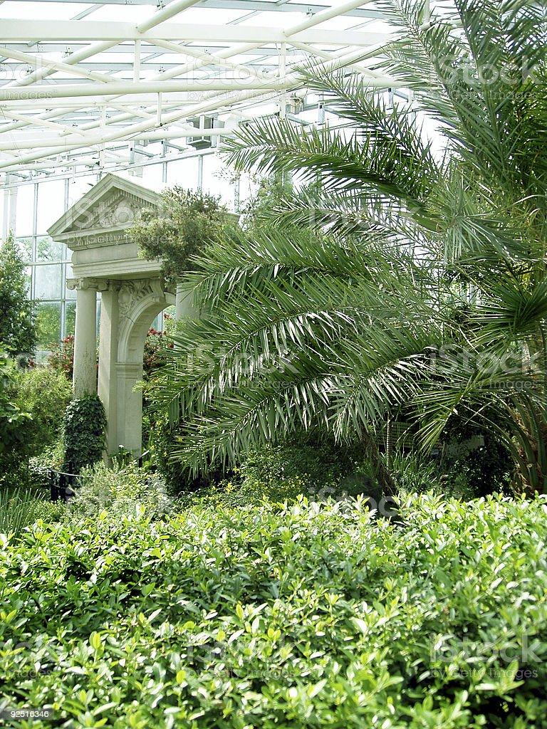 Greenhouse Roman Garden stock photo