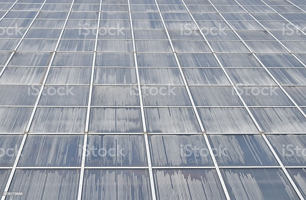 Greenhouse wall surface in perspective royalty-free stock photo