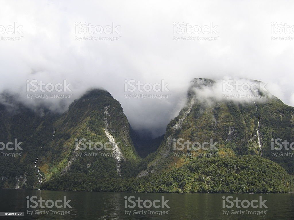 Greening Mountain Face stock photo