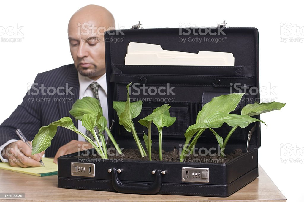 Greening Up Business royalty-free stock photo