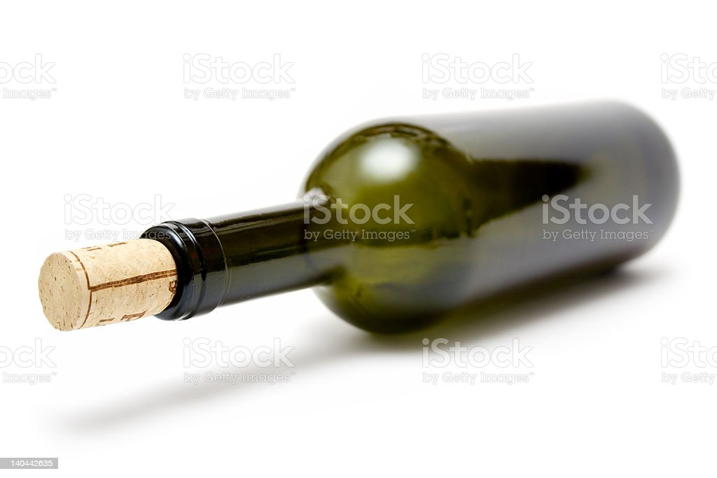 Greenish Wine Bottle stock photo