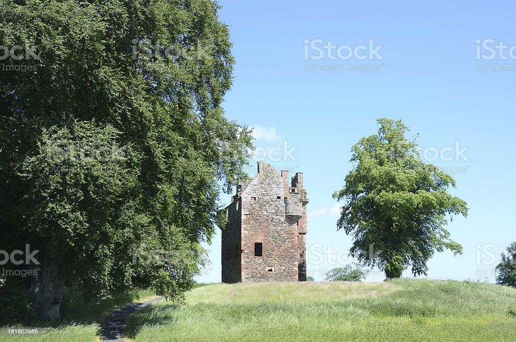 Greenknowe Tower royalty-free stock photo