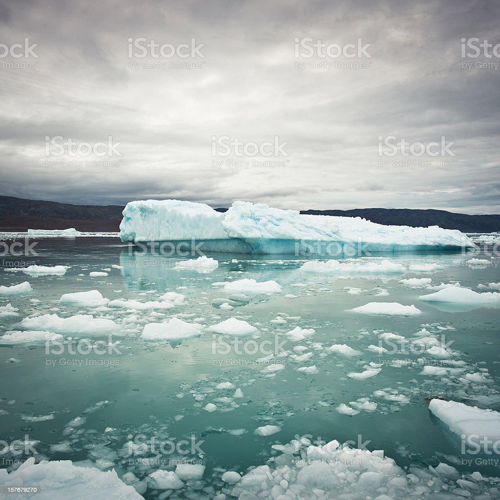 Greenland Arctic Icebergs Ice Fjord stock photo