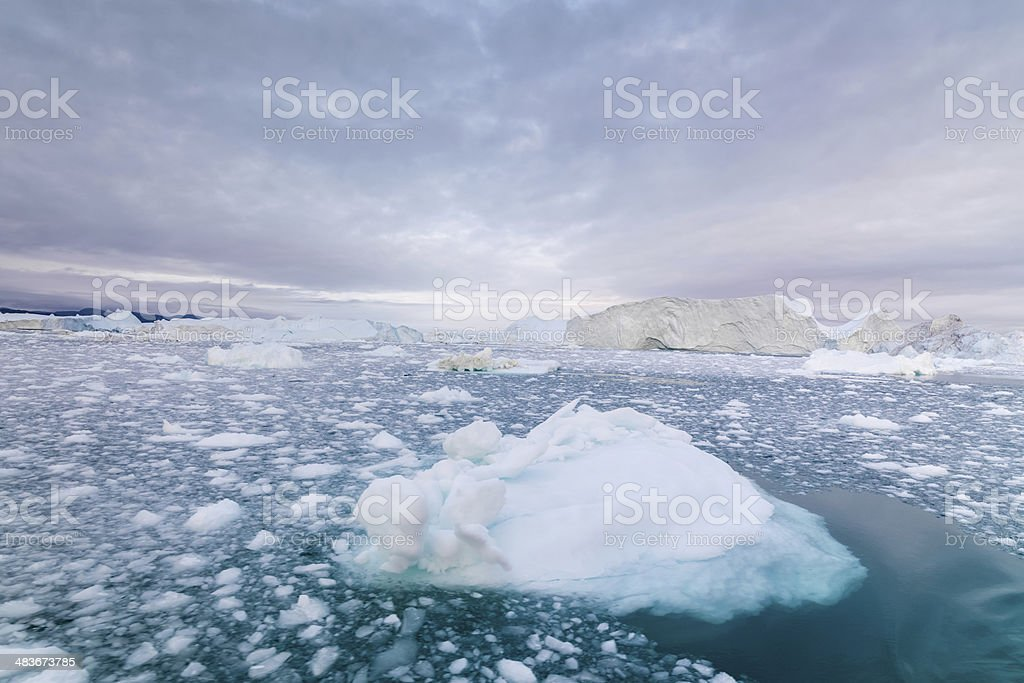 Greenland Arctic Icebergs Ilulissat stock photo