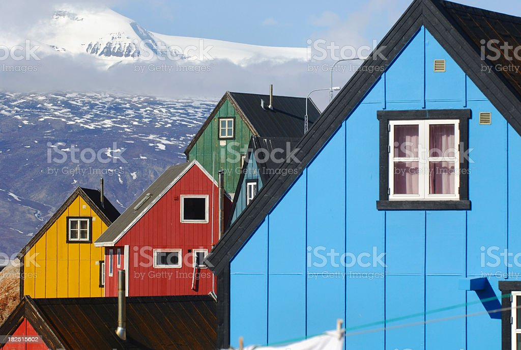 Greenland colours stock photo