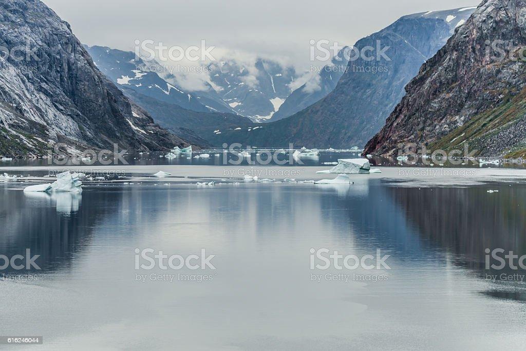 Greenland Fjord stock photo