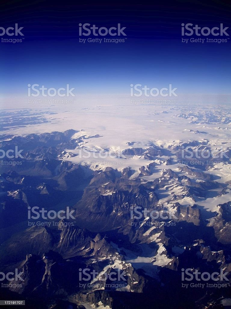 Greenland From the Air royalty-free stock photo