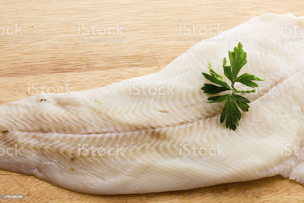 Greenland halibut stock photo