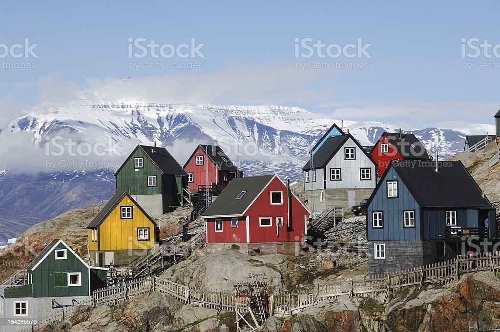 Greenland homes stock photo