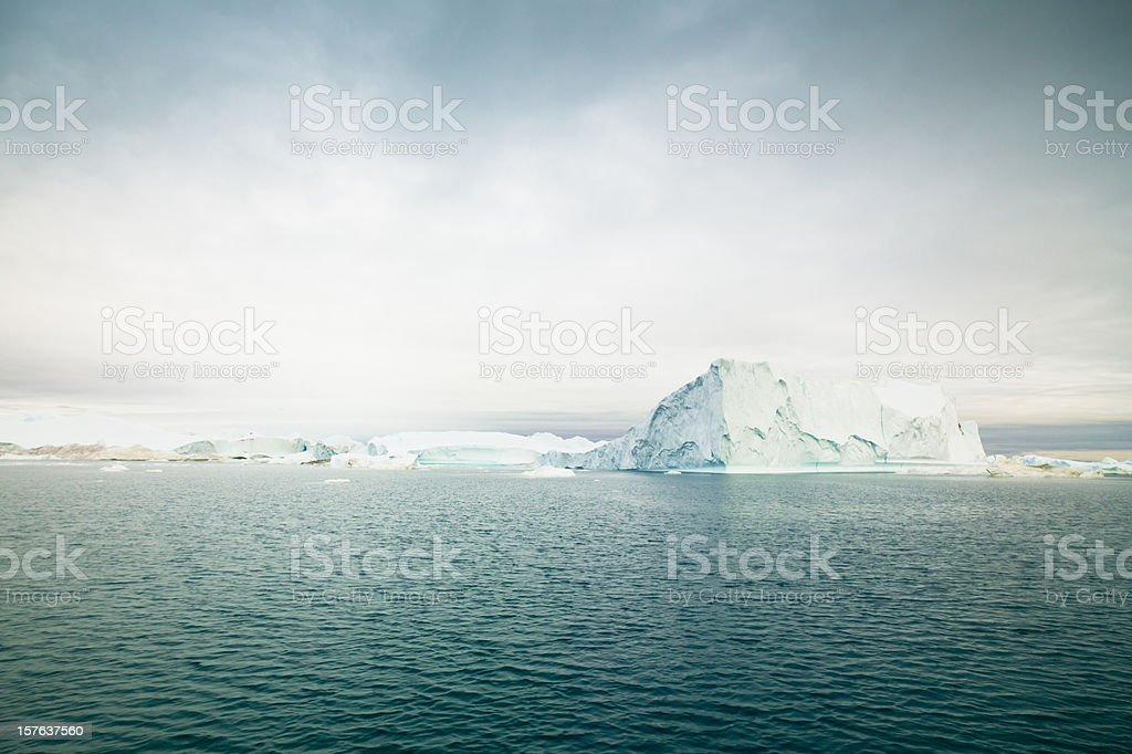 Greenland Icefjord Arctic Icebergs stock photo