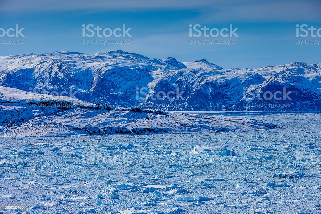 Greenland inland ice stock photo